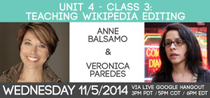 Unit 4 - Class #3: Teaching Wikipedia Editing